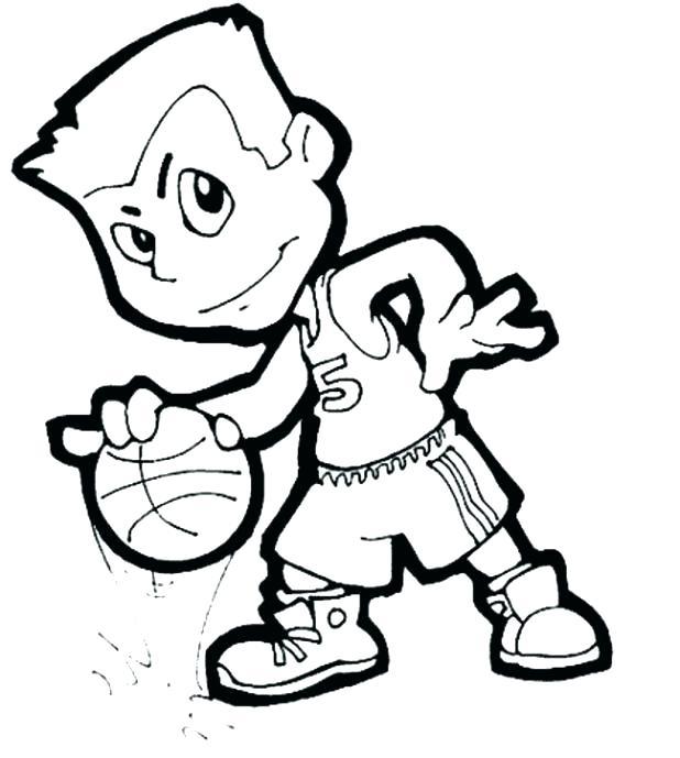 618x689 Nba Players Coloring Pages Basketball Printable