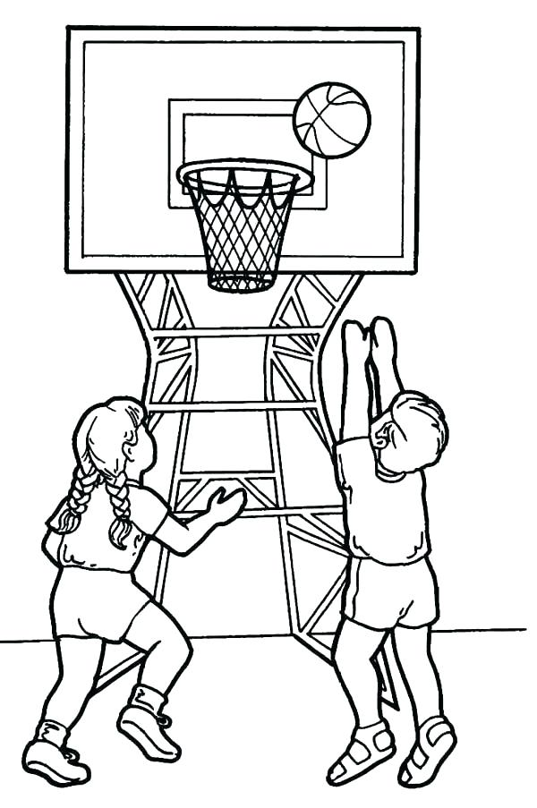 600x903 Nba Players Coloring Pages Playing Basketball