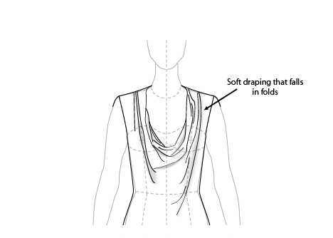 468x334 Cowl Neck Fashion Illustrations Cowl Neck