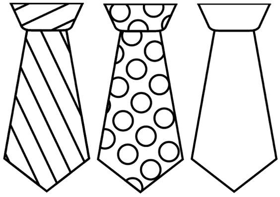 necktie design template