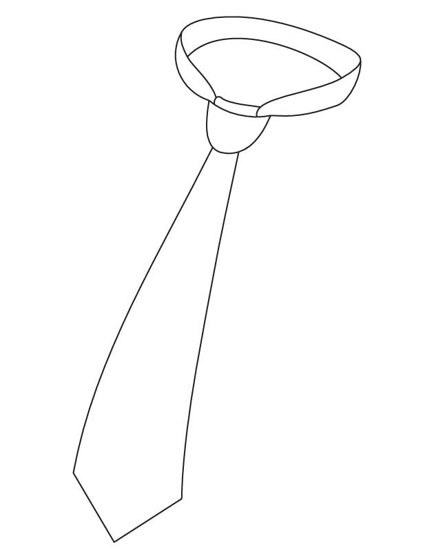 630x810 Neck Tie Coloring Page It's National Tie Month!