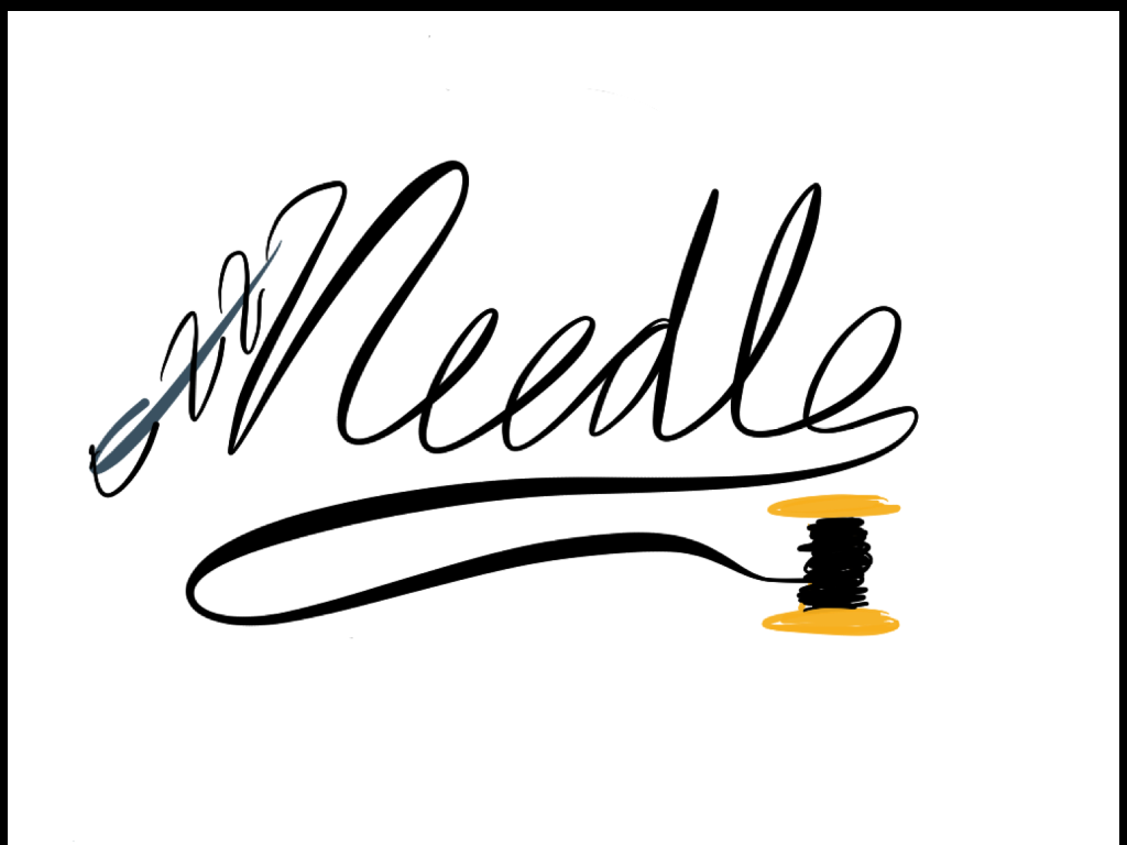 1024x768 Needle And Thread (Logo) By Starminjee