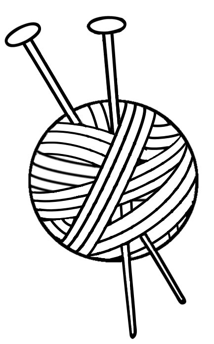 433x697 Knitting Vinyl Decal Yarn With Needles Yarn Vinyl Decal