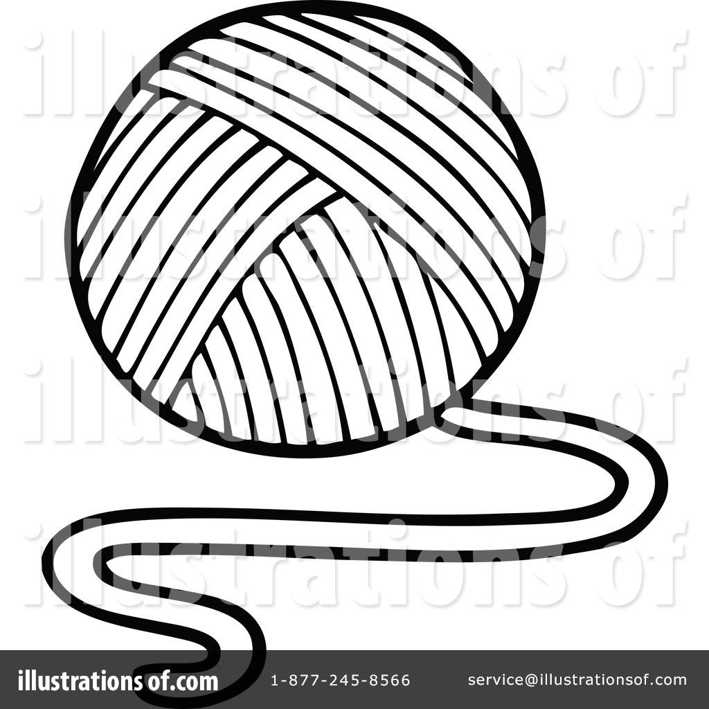1024x1024 Ball Of Yarn Drawing Ball Of Yarn Drawing Ball Yarn Needles Stock