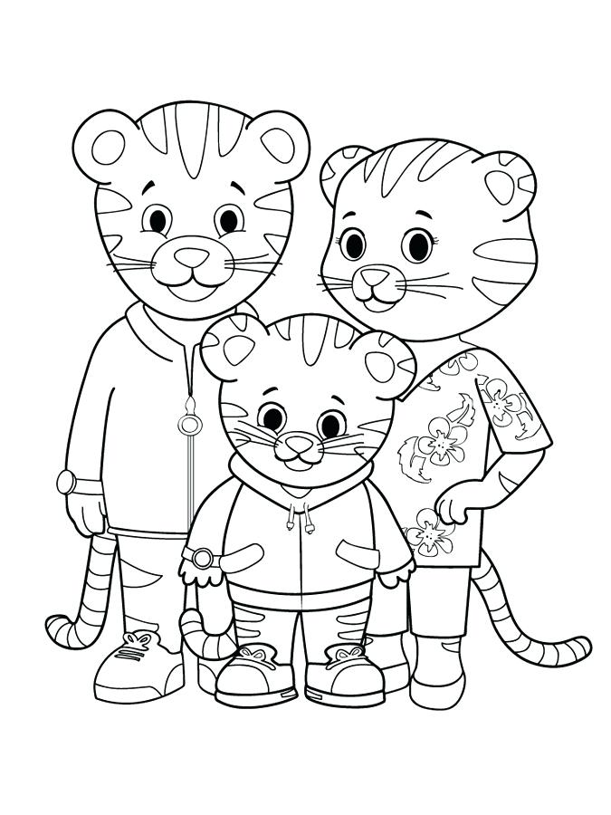 Neighborhood drawing at free for for Daniel tiger coloring pages