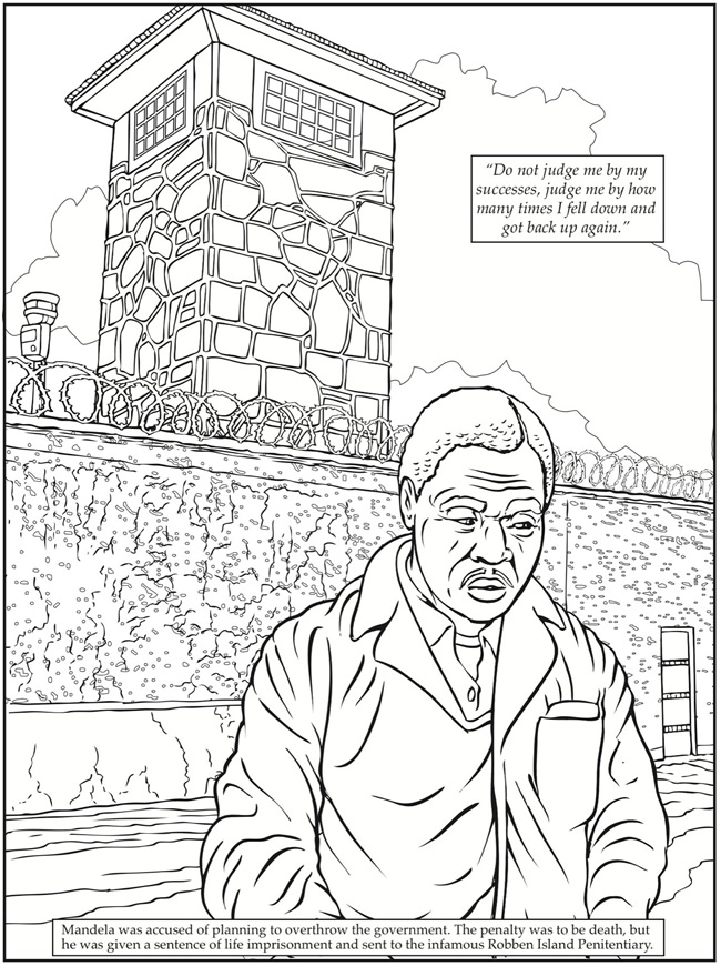 650x870 dover publications nelson mandela coloring book clipart bw