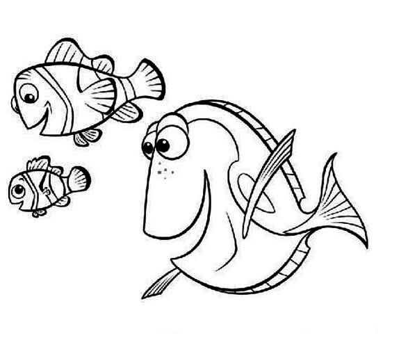 600x486 Finding Nemo Free Coloring Pages Disney's Finding Nemo Coloring