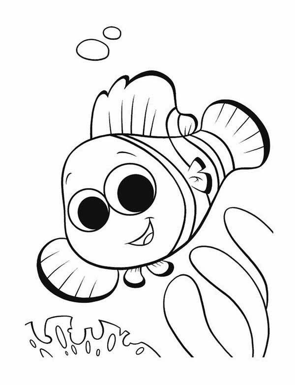600x783 drawn clown little fish - Nemo Coloring Pages