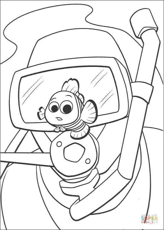 567x794 Diver And Nemo Coloring Page Free Printable Coloring Pages