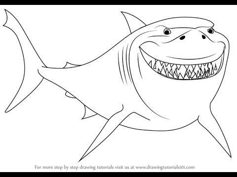 480x360 How To Draw Bruce From Finding Nemo