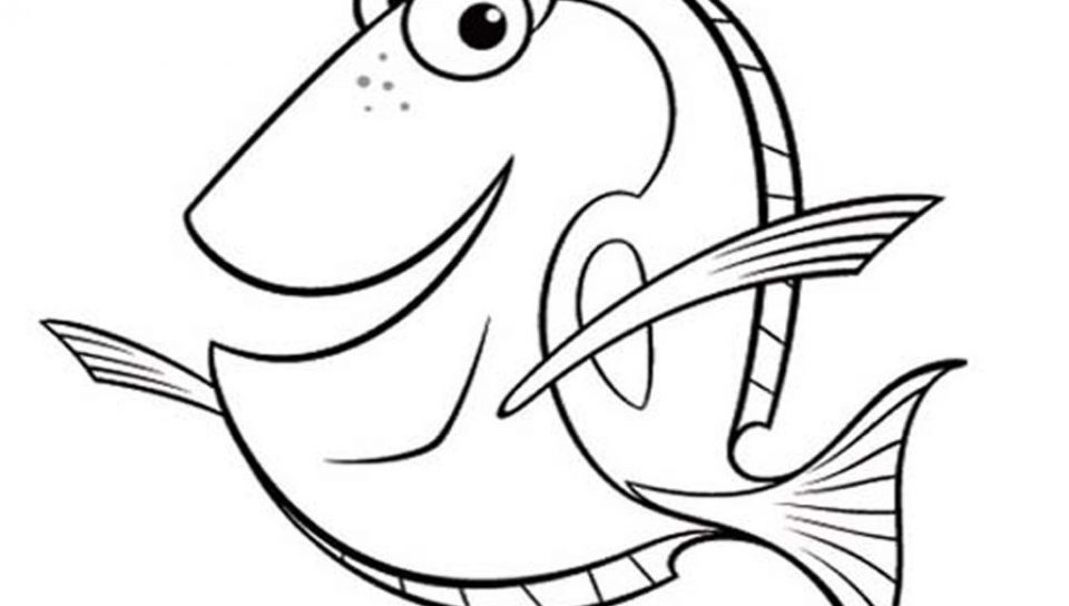 960x544 Bruce Wants To Eat Dory Coloring Page Free Printable Cartoon Pages