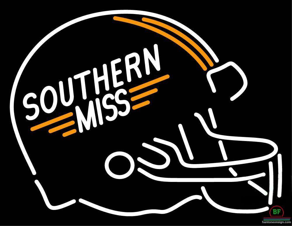 1000x774 Southern Miss Golden Eagles Helmet Neon Sign Ncaa Teams Neon Light