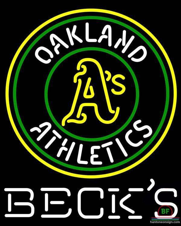 600x750 Becks Oakland Athletics Neon Sign Mlb Teams Neon Light Mlb Teams