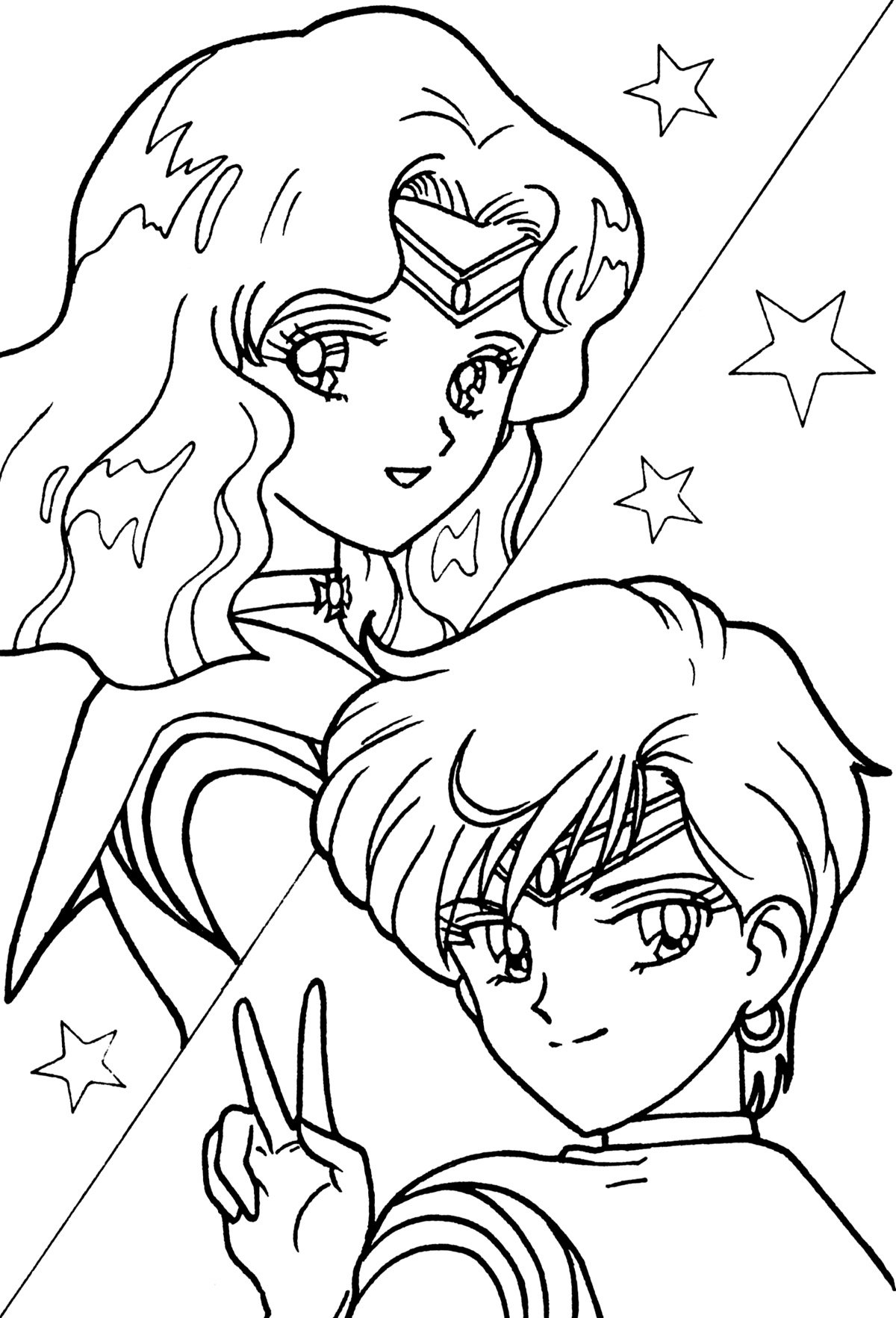 1200x1765 Sailor Neptune And Uranus Coloring Page