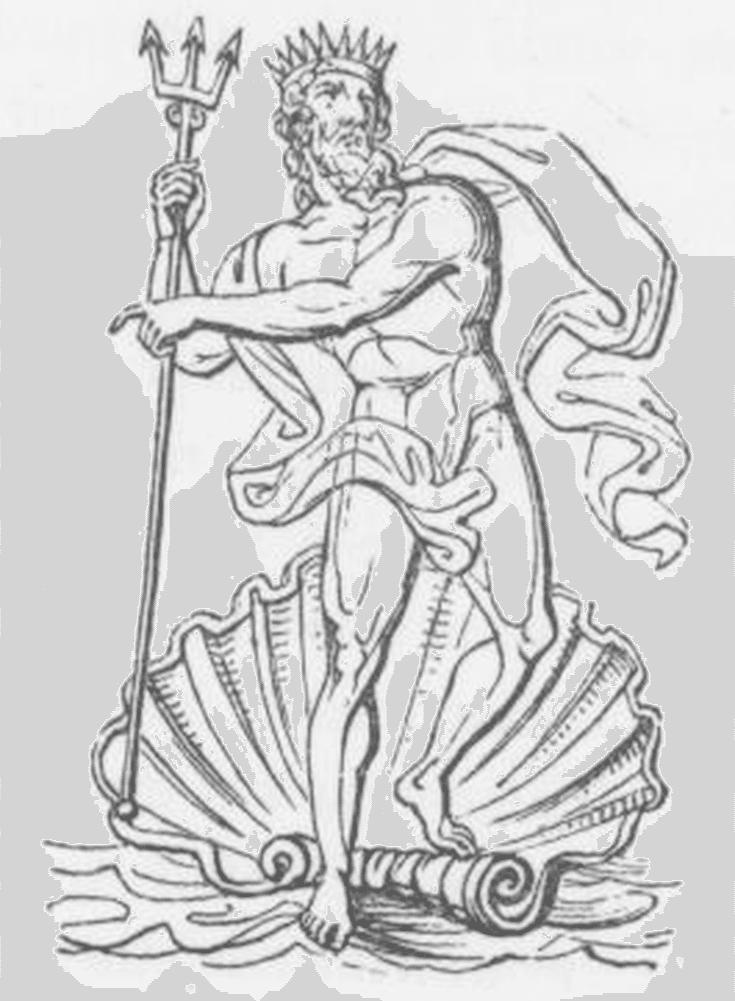 Neptune God Drawing