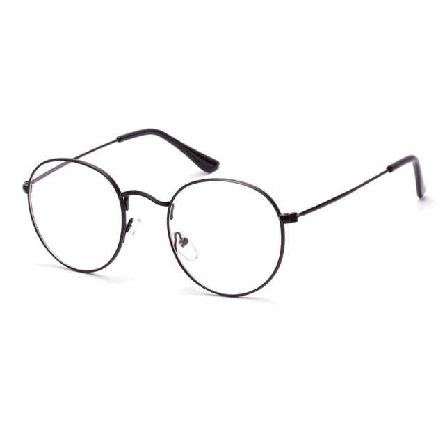 640x640 Korean Fashion Glasses With Clear Lenses Round Metal Frame Glasses