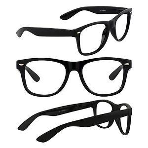 300x300 Men's Retro Glasses Nerd Geek Hipster Fake Eye Glasses W Clear