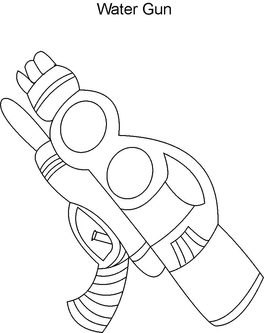 842x1060 coloring Gun Coloring Pages