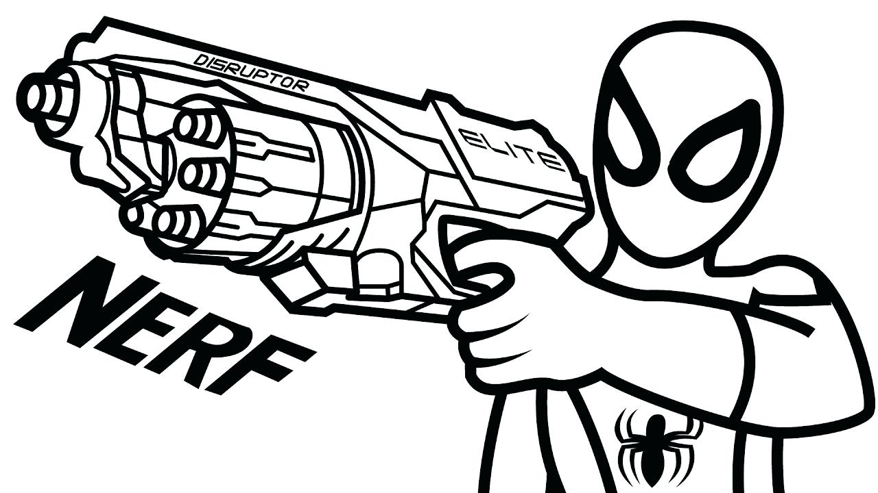 1280x720 coloring Nerf Gun Coloring Pages Amazing Colouring Sheet. Nerf