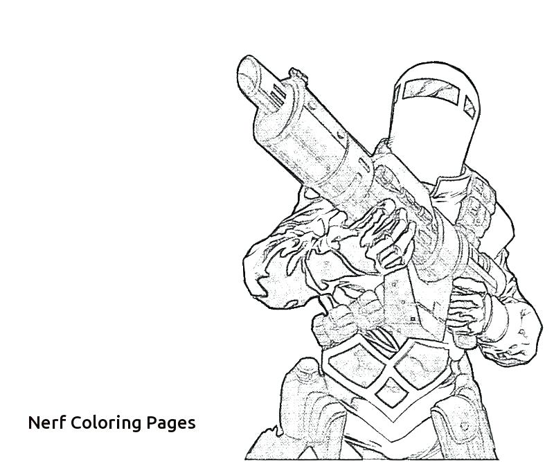 800x667 Excellent Nerf Coloring Pages Online How To Draw A Gun Step