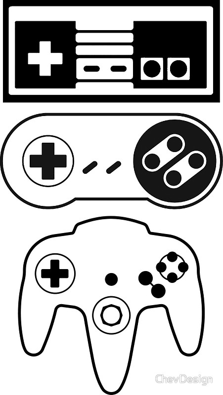 451x800 Nintendo Controllers Stickers By Chevdesign Redbubble
