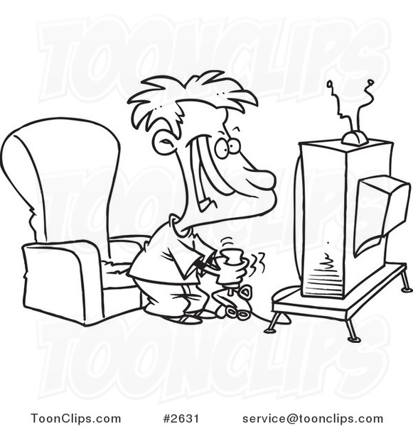 581x600nd White Line Drawing Of Boy Playing Video Game