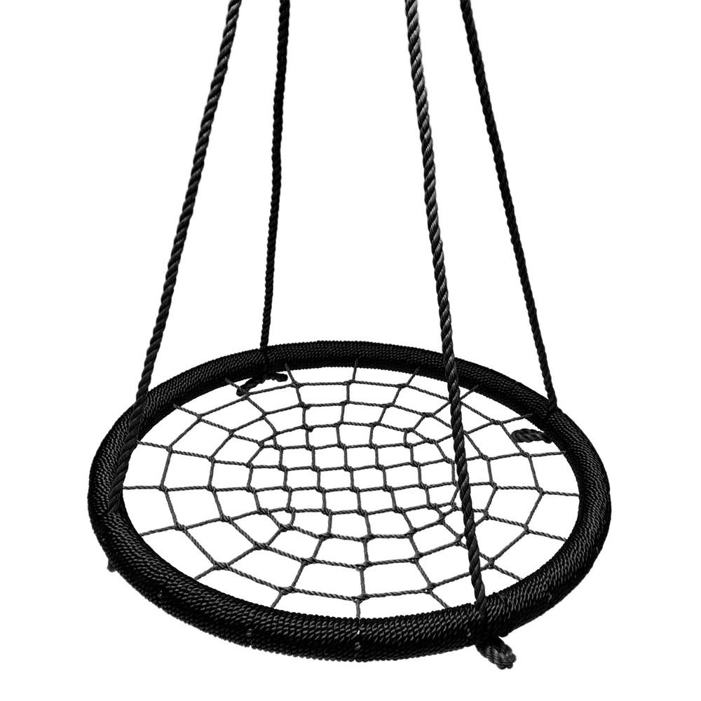 1000x1000 Black Outdoor Round Tree Net Swings