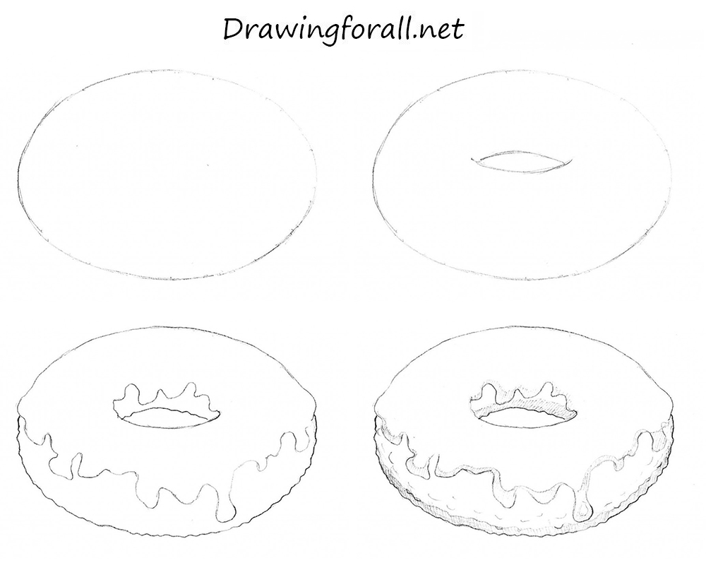 1000x807 How To Draw Donut To Draw