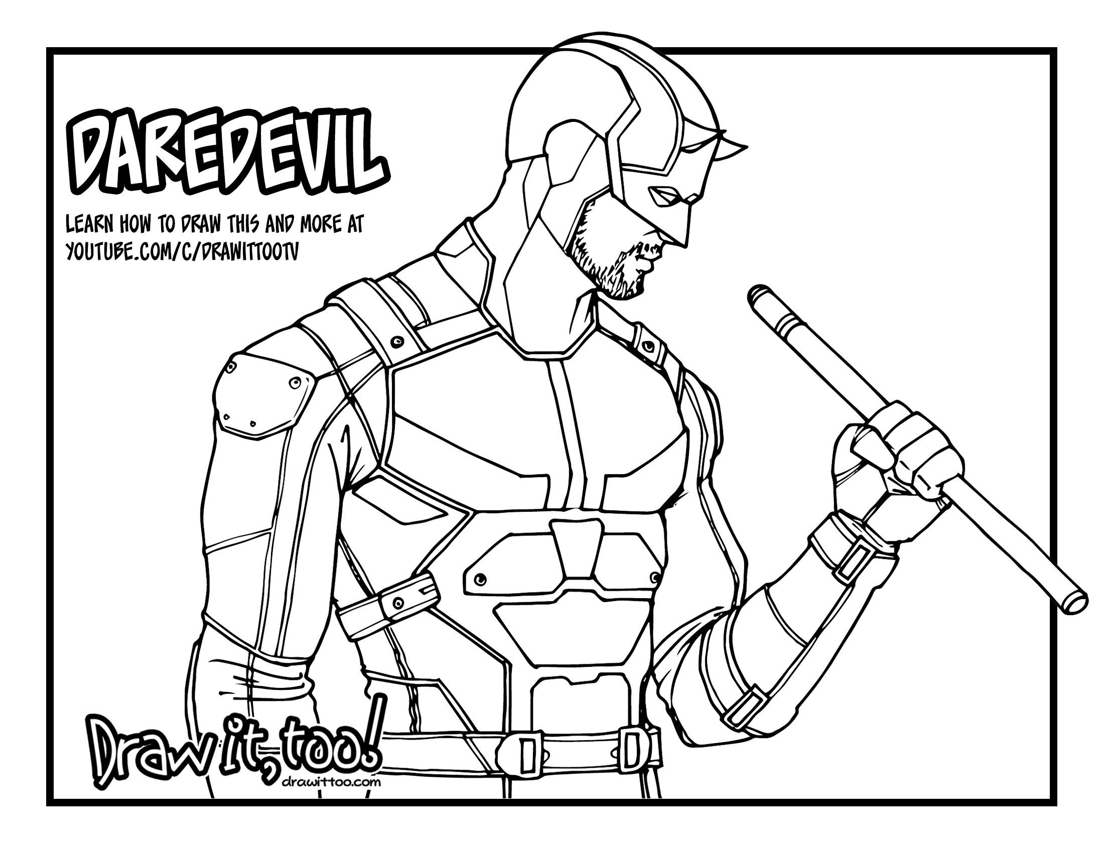 2200x1700 How To Draw Daredevil (Netflix Daredevil Season 2) Drawing