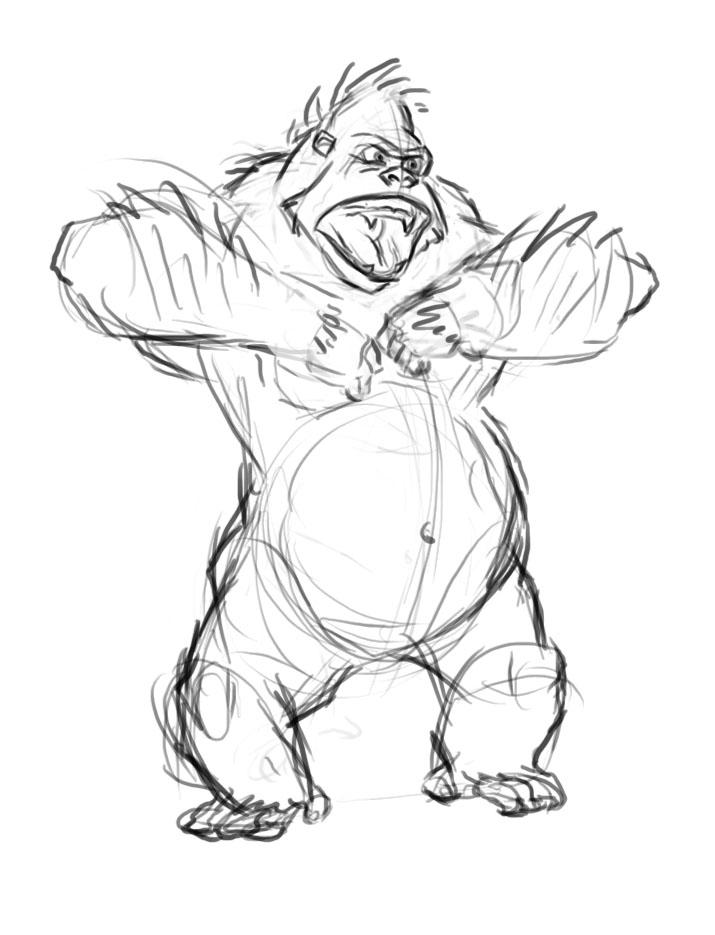 715x935 The Art Blog Of Court Chu Netflix's Kong King Of The Apes