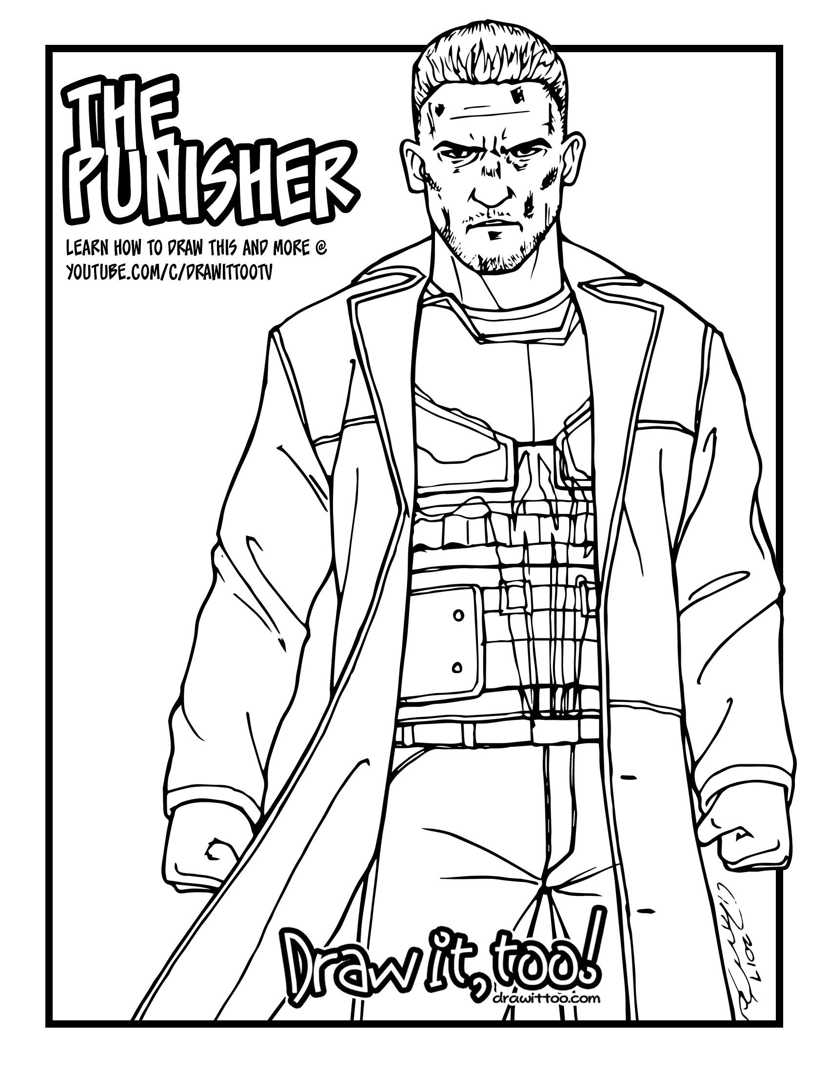 1700x2200 The Punisher (Netflix Daredevil Season 2) Tutorial