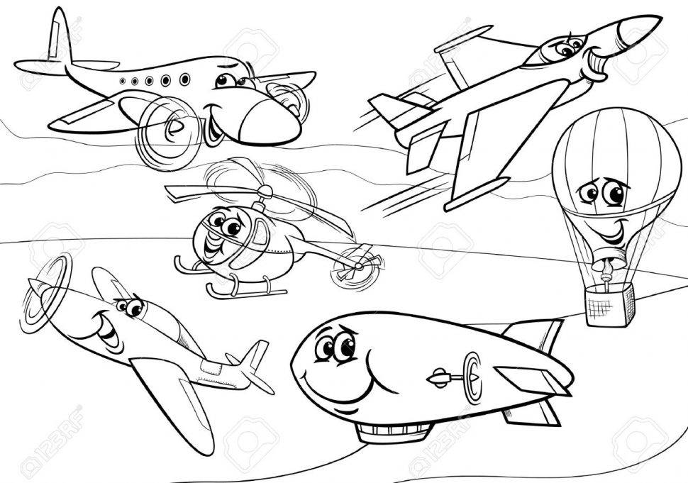 970x681 Coloring Drawn Aircraft Coloring Bookencil And In Color Trending