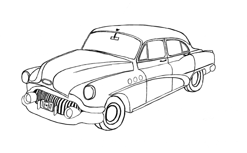 New Car Drawing