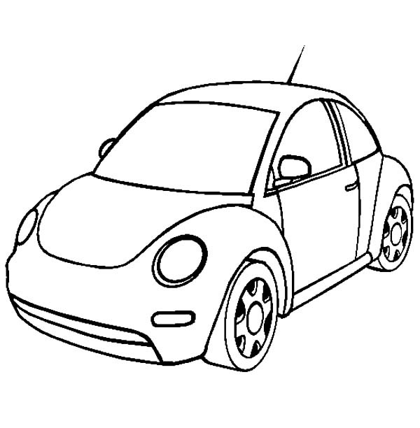 600x612 new volkswagen beetle car coloring pages best place to color