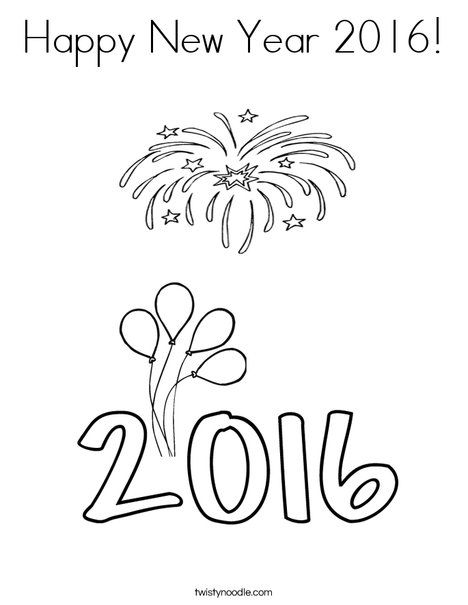 468x605 Happy New Year 2016 Drawings Pictures, Photos, And Images