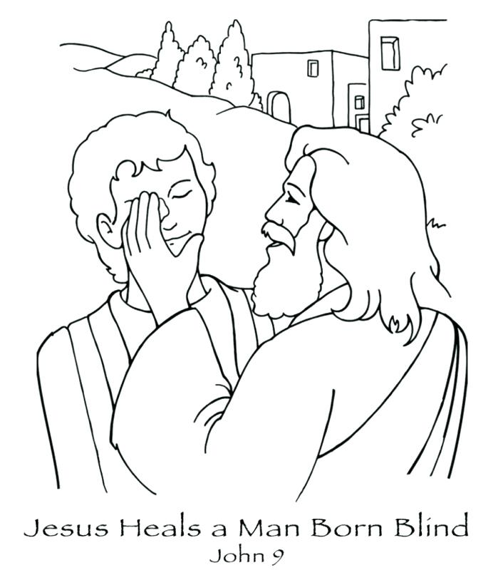692x800 Jesus Heals Coloring Page New A Man Born Blind