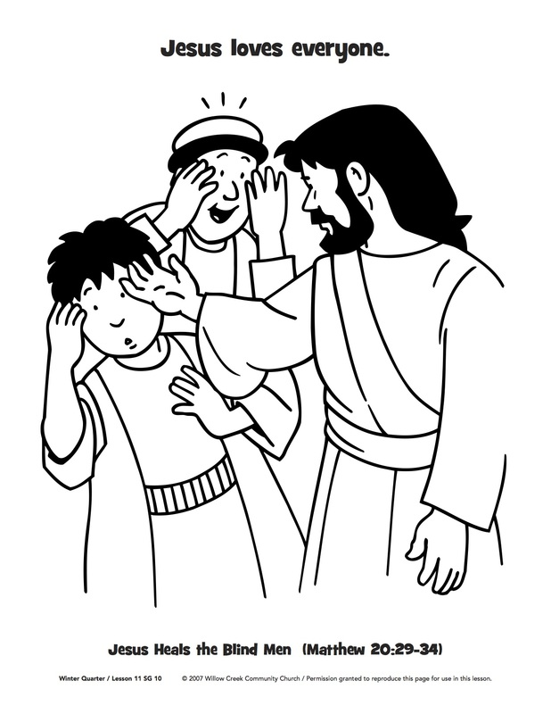618x800 New Coloring Page Jesus Heals A Blind Man The