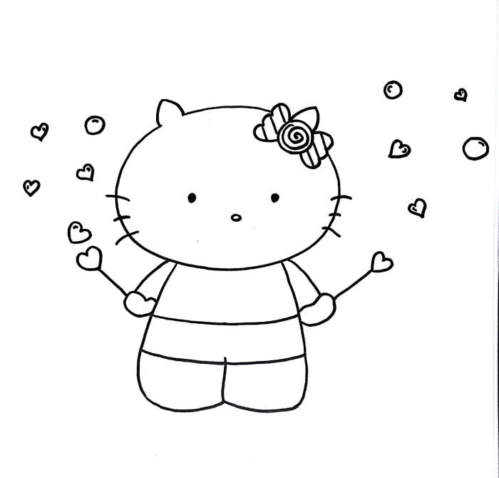 700x670 Learn How To Draw Hello Kitty Step By Step Kids Easy Amp Simple