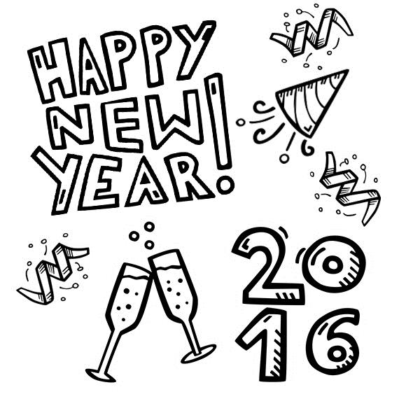 570x570 Easy New Year Drawings Merry Christmas Amp Happy New Year 2018 Quotes