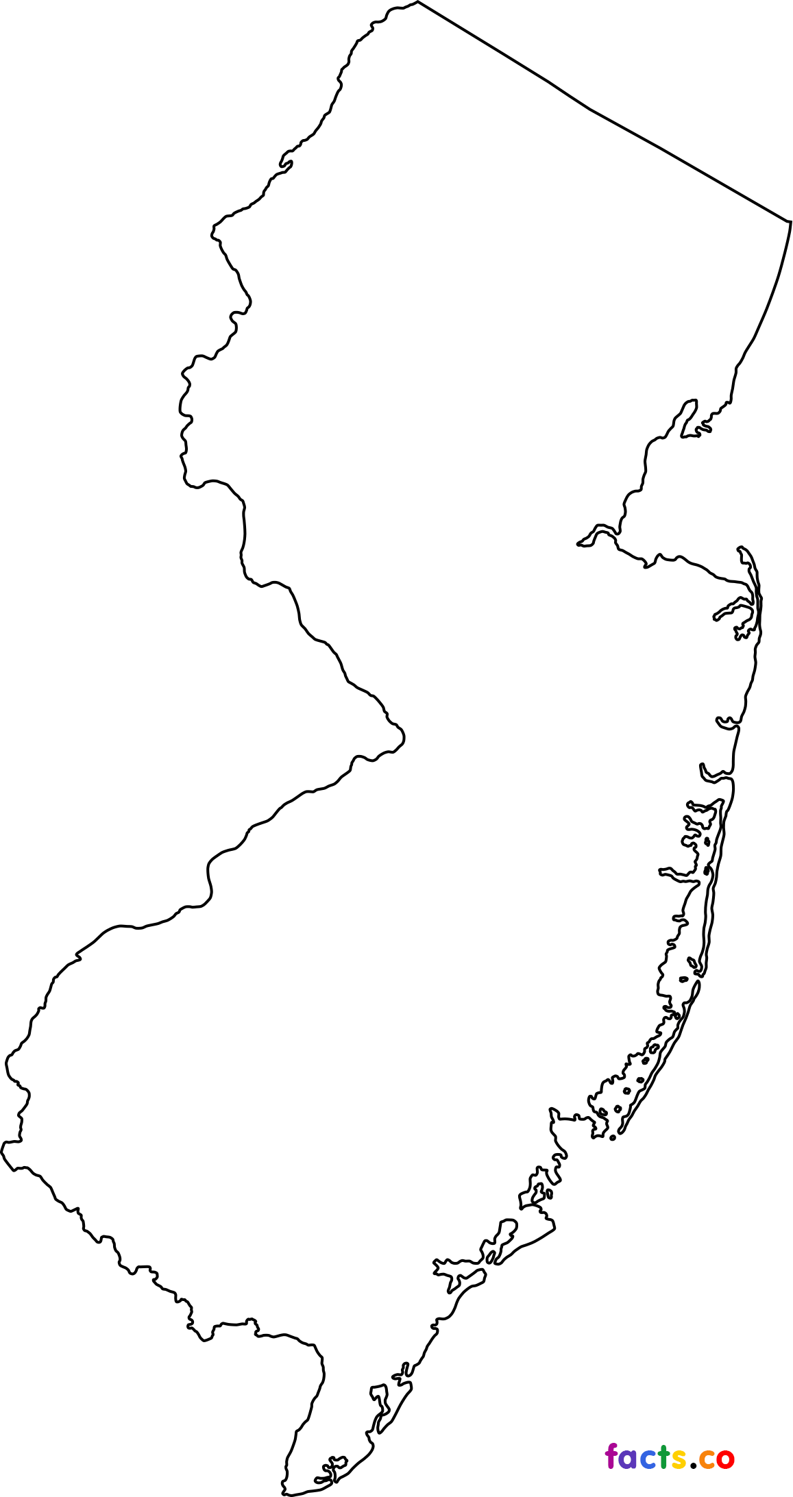 This is a graphic of Lively Printable Map of New Jersey