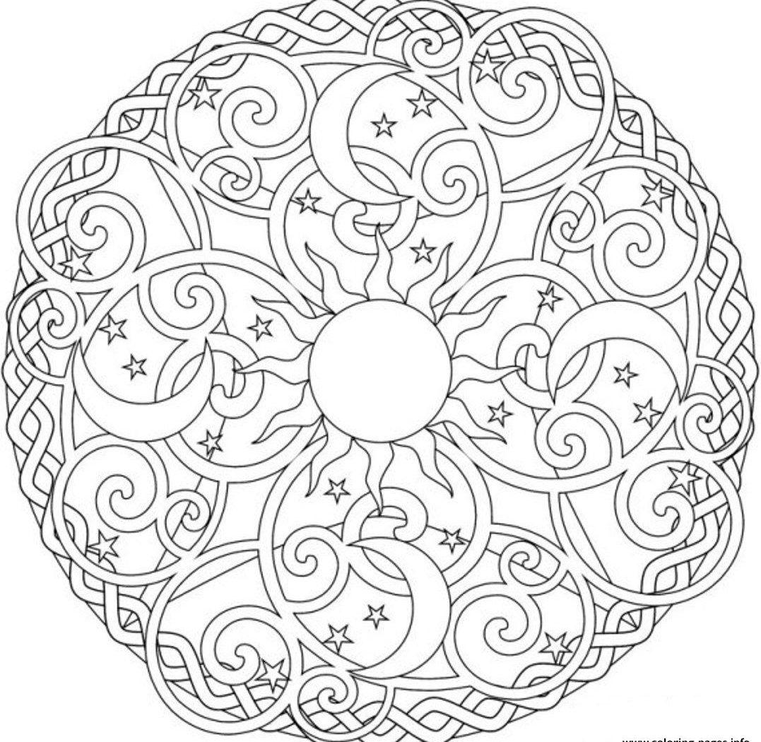 1077x1050 Moon And Stars Coloring Pages