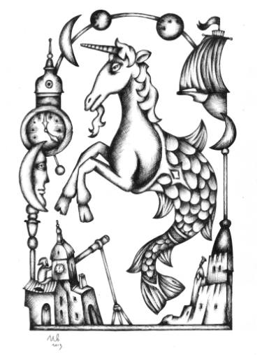 375x507 Buy Original Surrealism Sciencetechnology Drawings Online