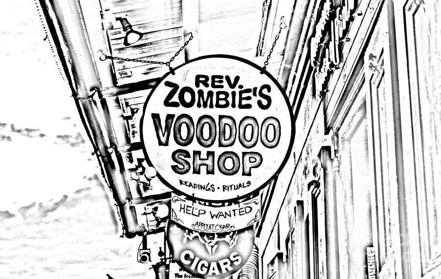 900x569 Shop Signs French Quarter New Orleans Photocopy Digital Art