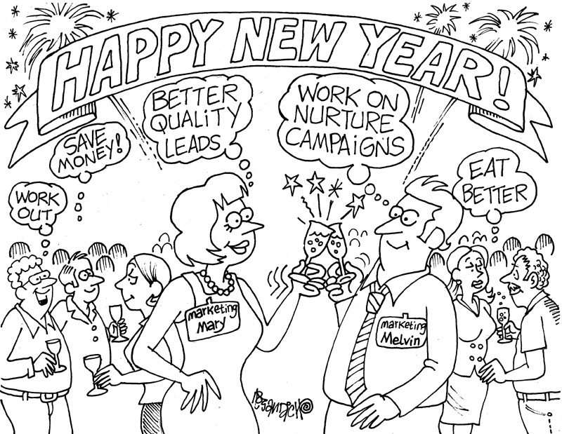 800x619 New Year Cartoons About The New Year And New Years Eve Celebration