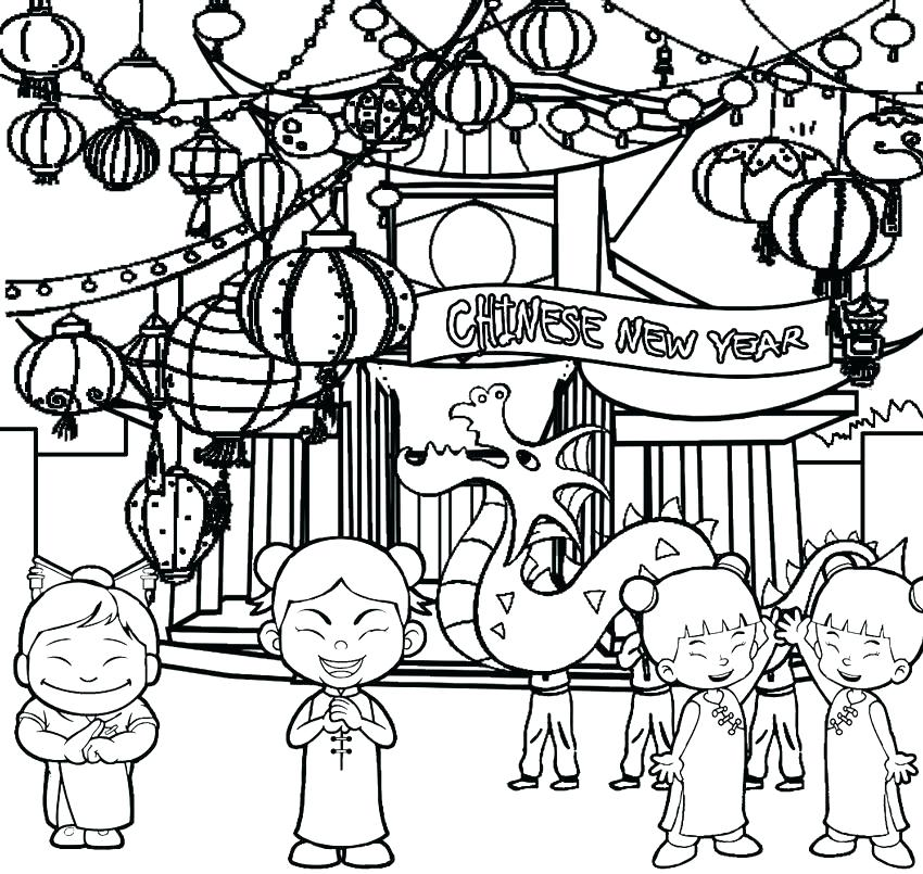 850x805 Chinese New Year Year Of The Monkey Coloring Page New Year