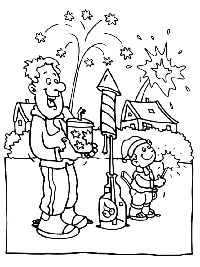 645x861 Happy New Year 2017 Coloring Pages Greeting Images