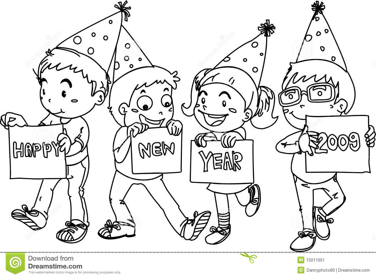 1300x963 Happy New Year Drawing For Kids Merry Christmas Amp Happy New Year