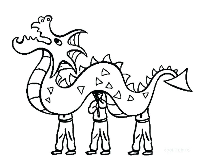 850x700 New Year Dragon Dance Coloring Pages Printable For Kids Chinese