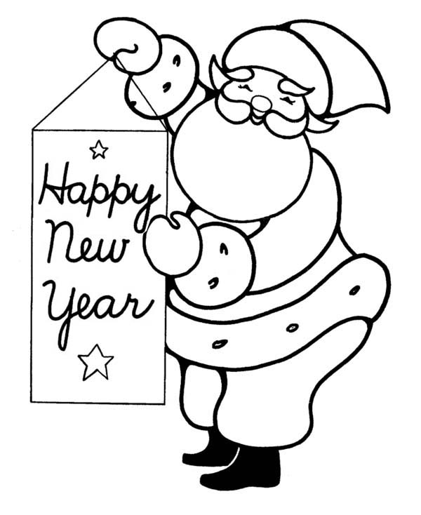 600x734 New Year Drawing Pictures Merry Christmas And Happy New Year 2018