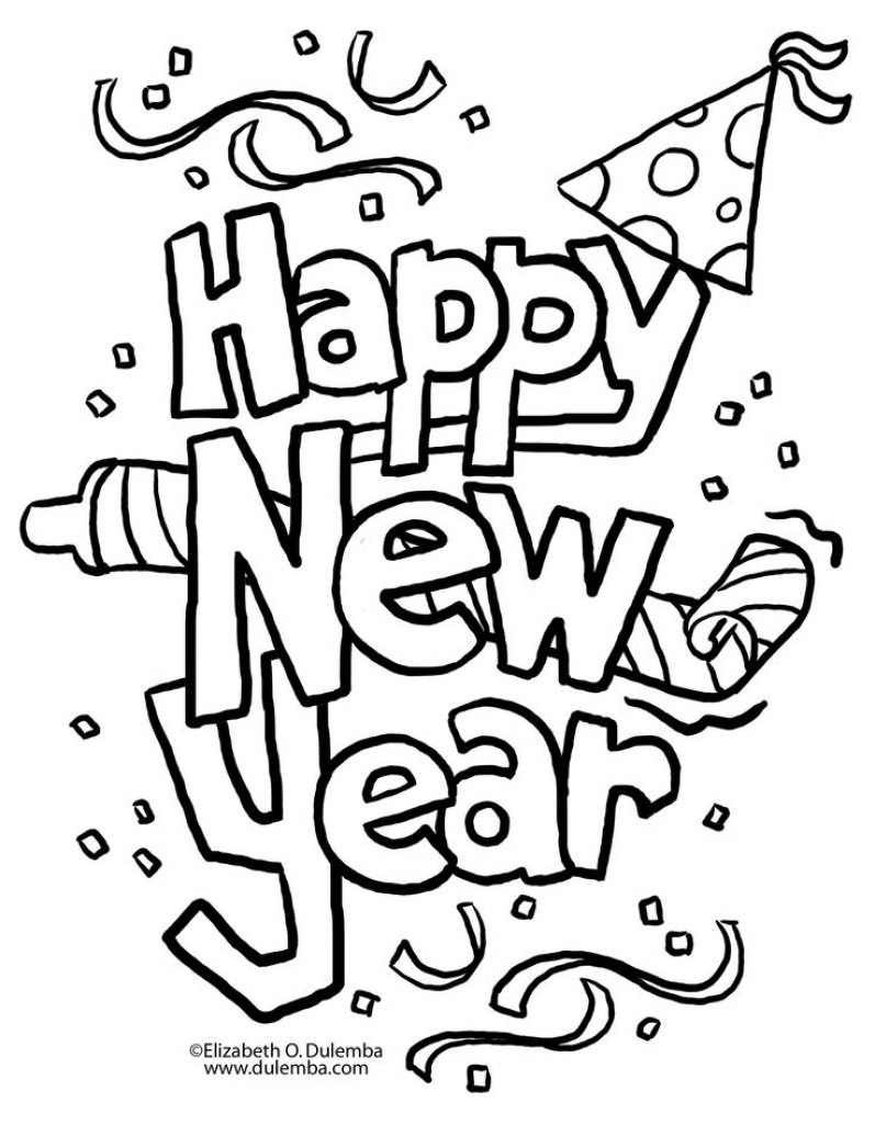 797x1024 Print Out Happy New Year Coloring Page For Kids Archives